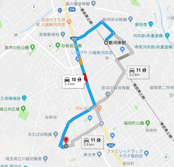 荻原越山 地図